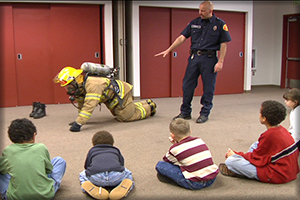 CRR program teaching kids fire safety