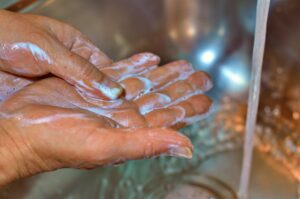 washing hands is part of decon at fireground